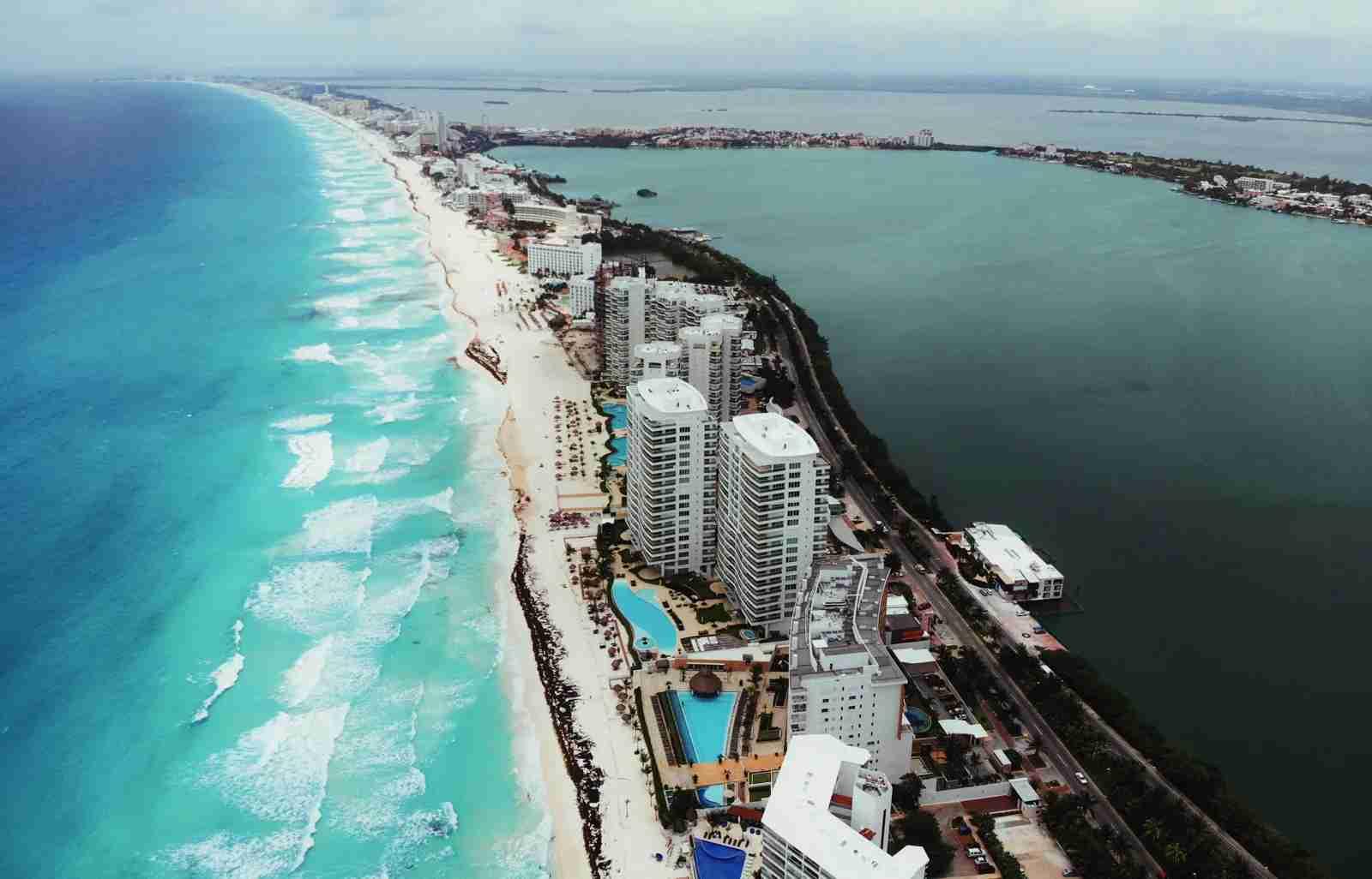 An aerial view of Quintana Roo, Mexico. (Photo via Shutterstock)