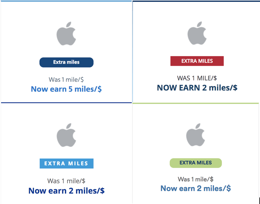 Today Only: Earn Up to 5 Miles Per Dollar on Apple Purchases