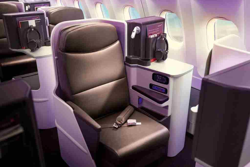 Staggered business class on the refreshed A330-200. Photo courtesy of Virgin Atlantic.