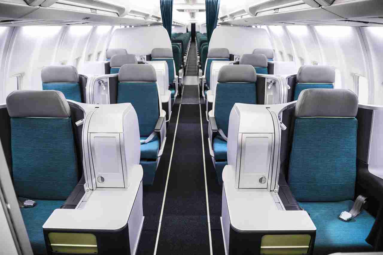 Aer Lingus business class aboard the airline