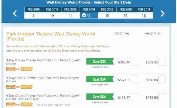 Walt Disney World Park Hopper Tickets on Undercover Tourist