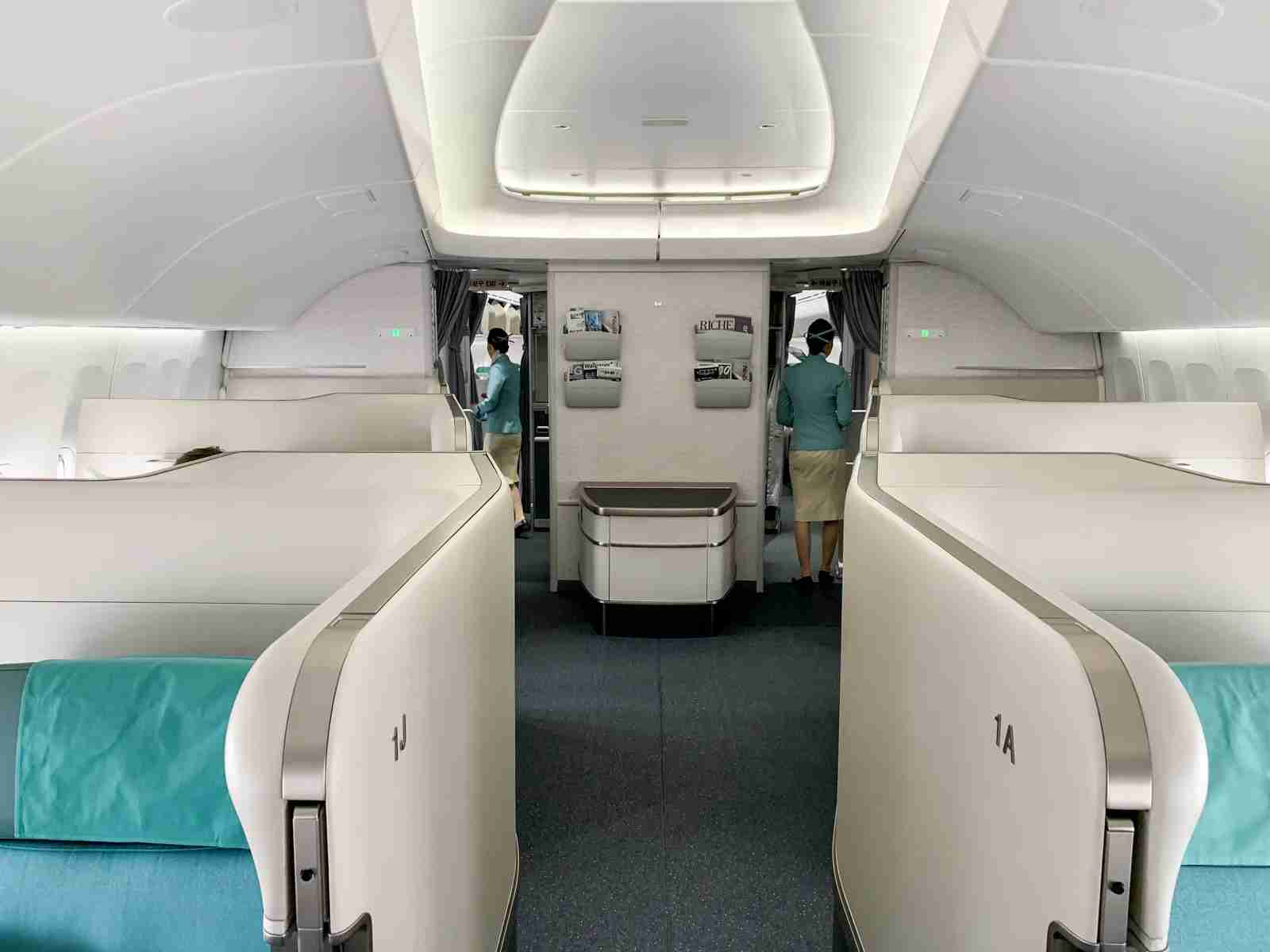 First class in the nose of Korean Air