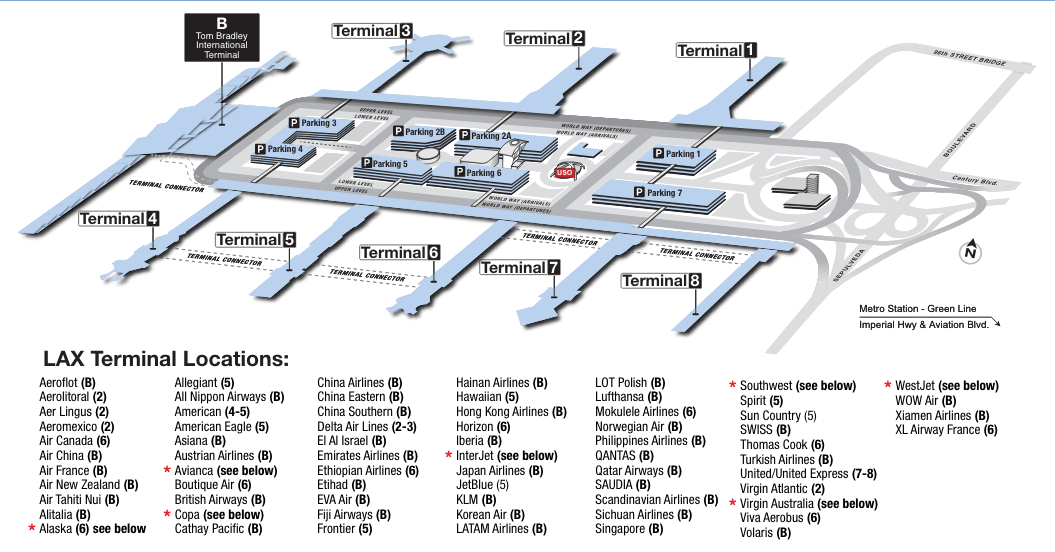 18 Time-Saving Travel s for the LAX Airport on dca map, george bush intercontinental airport, mccarran international airport, denver international airport, phoenix sky harbor international airport, united airlines, delta air lines, mdw map, rdu map, iah map, john f. kennedy international airport, dtw map, jfk map, san francisco international airport, orlando international airport, london heathrow airport, future history map, virgin america, ontario airport map, spirit airlines, london heathrow airport map, bos map, las map, laguardia airport, ind map, southwest airlines, alaska airlines, miami international airport, msp map, tom bradley international terminal map, american airlines, hnl map, dallas-fort worth international airport, san map, sfo map, frontier airlines, long beach airport map, ewr map, dfw map, honolulu international airport,