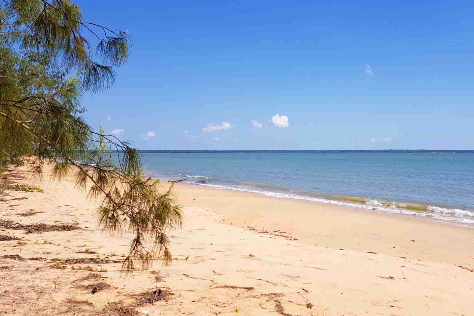A beach on the Tiwi Islands, Northern Territory. (Photo via Shutterstock)