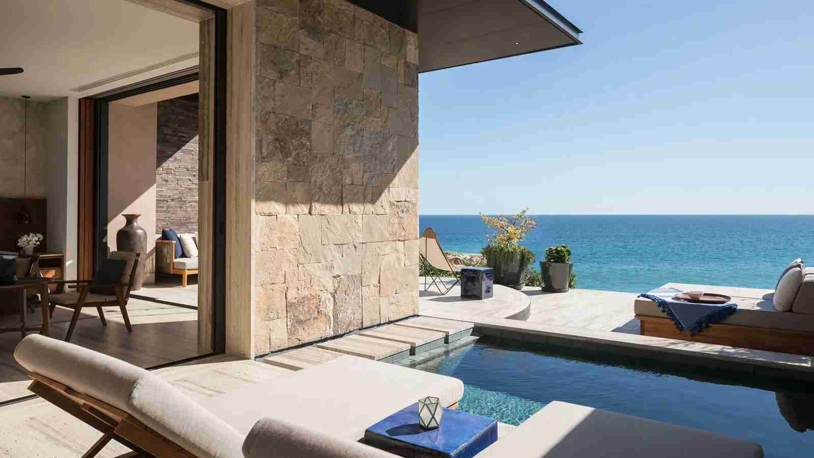 An ocean-view pool room at Zadún, a Ritz-Carlton Reserve, in Los Cabos, Mexico. (Photo courtesy of Zadún)