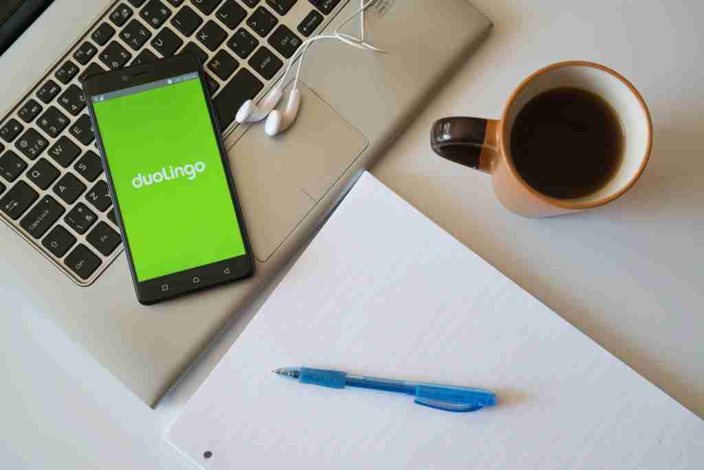 The Duolingo app is meant for learning a new language. (Photo via Shutterstock)