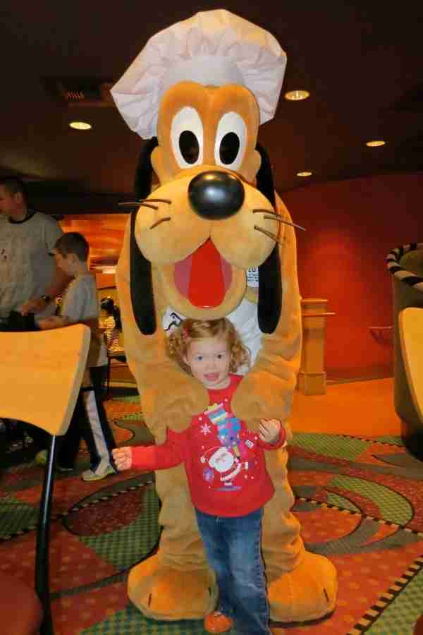 Disneyland Hotel Character Meal - Pluto at Goofy
