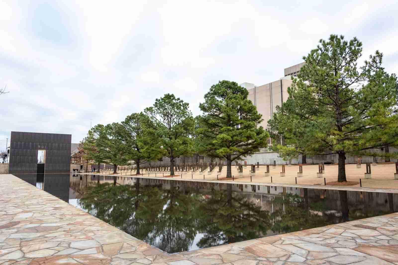 The Oklahoma City National Memorial. (Photo via Shutterstock)