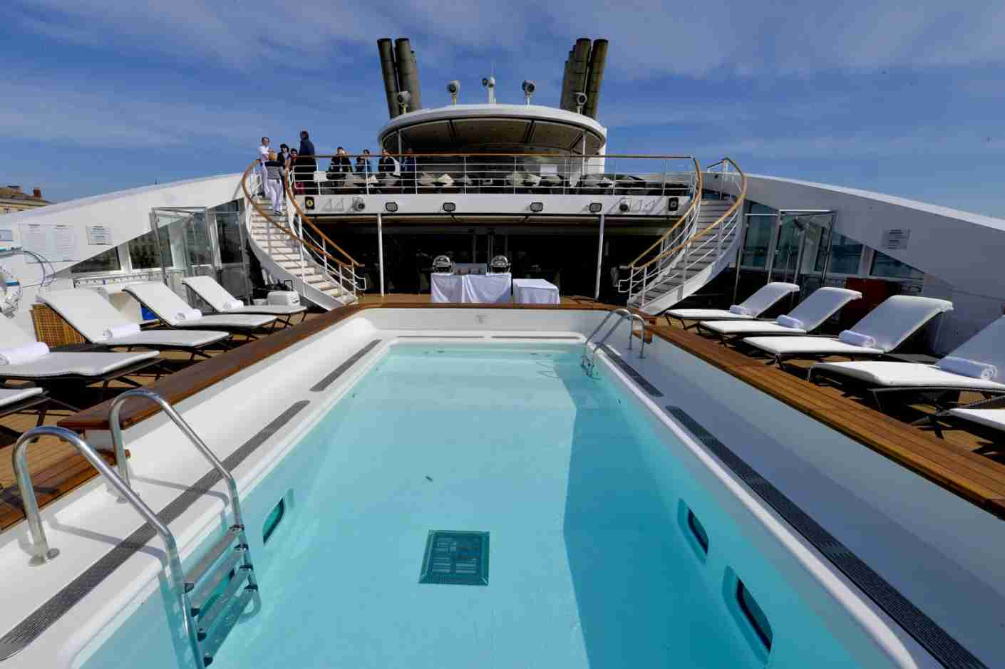 "The swimming pool of the Ponant cruise liner ""L"
