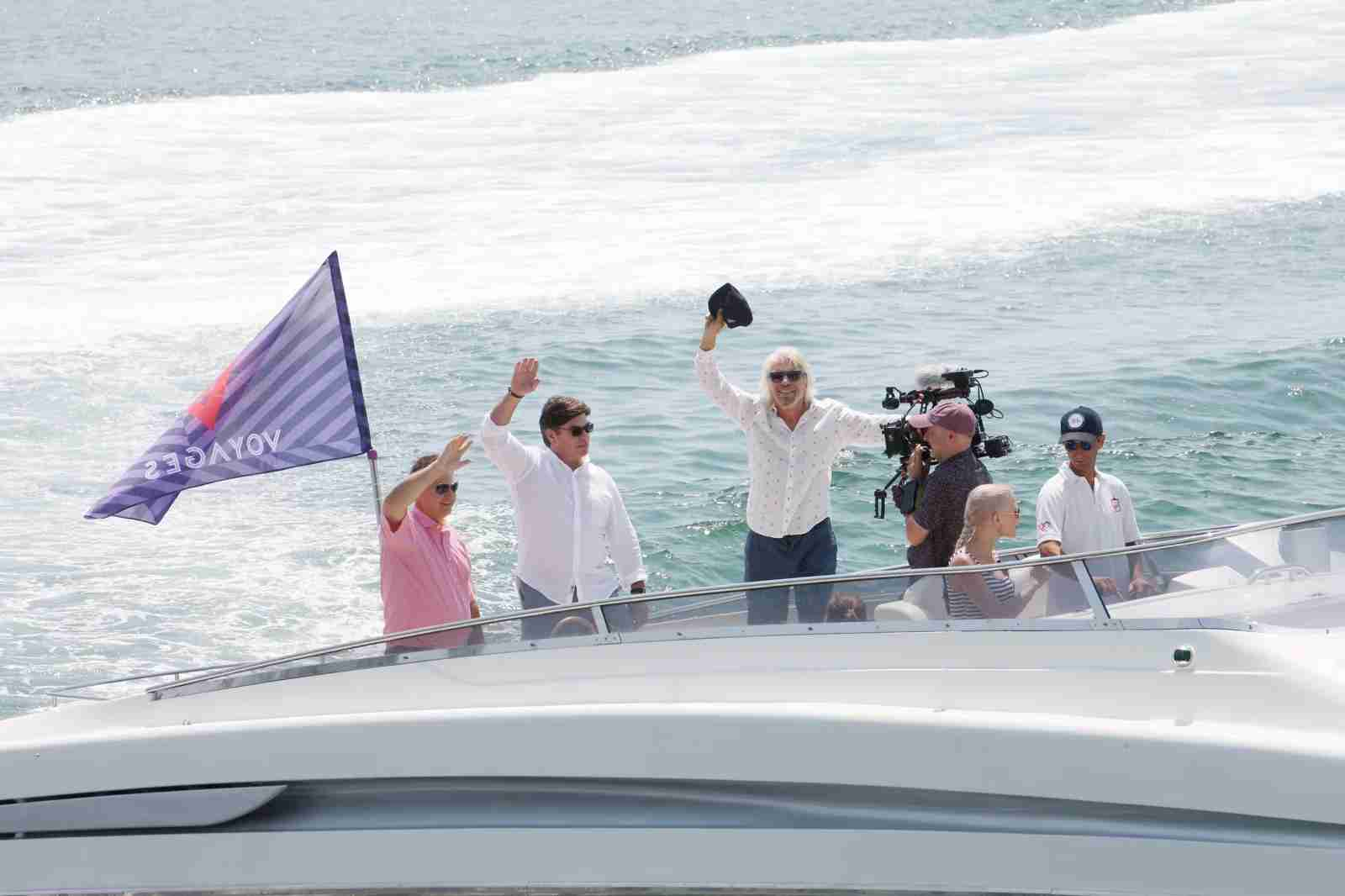 Sir Richard Branson unveiling Virgin Voyages Vitamin Sea in Genoa, Italy. (Photo by Vincenzo Lombardo/Getty Images for VIRGIN VOYAGES)