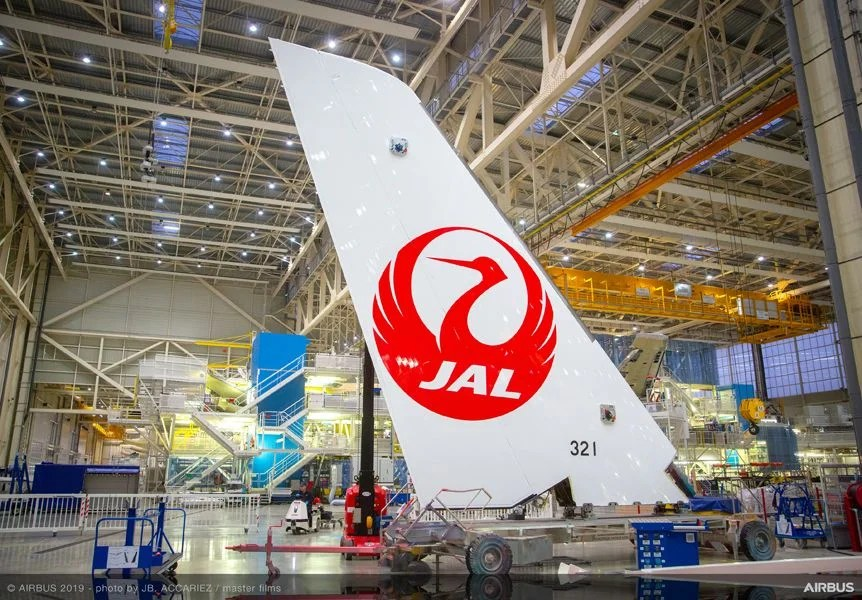 Japan Airlines' First Ever Airbus Takes Shape