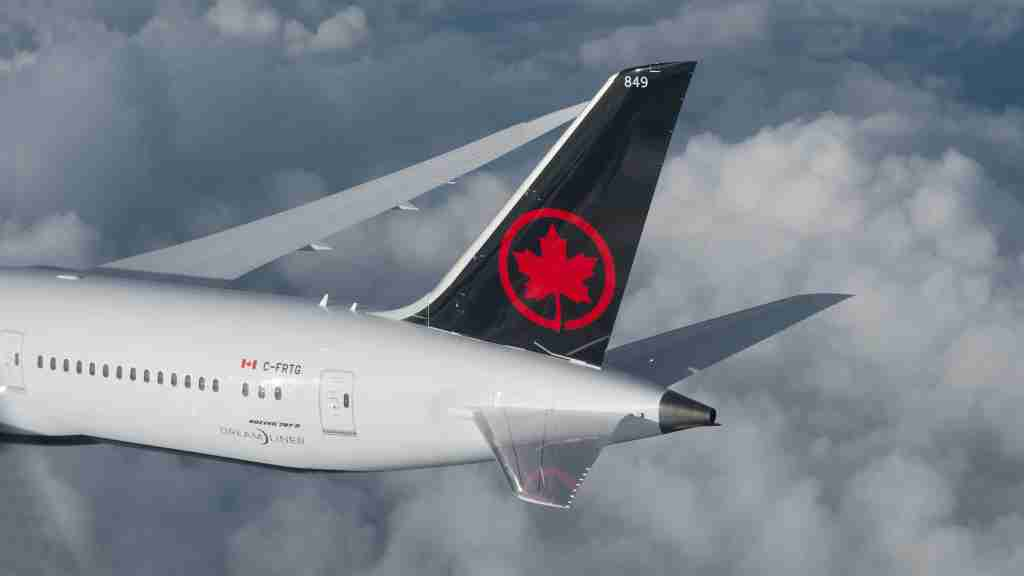 Air Canada Boeing 787-9 Dreamliner tail (Photo courtesy of Air Canada)
