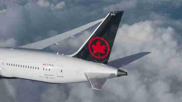 Air Canada Boeing 787-9 Dreamliner tail (Photo courtesy of Air Canada)