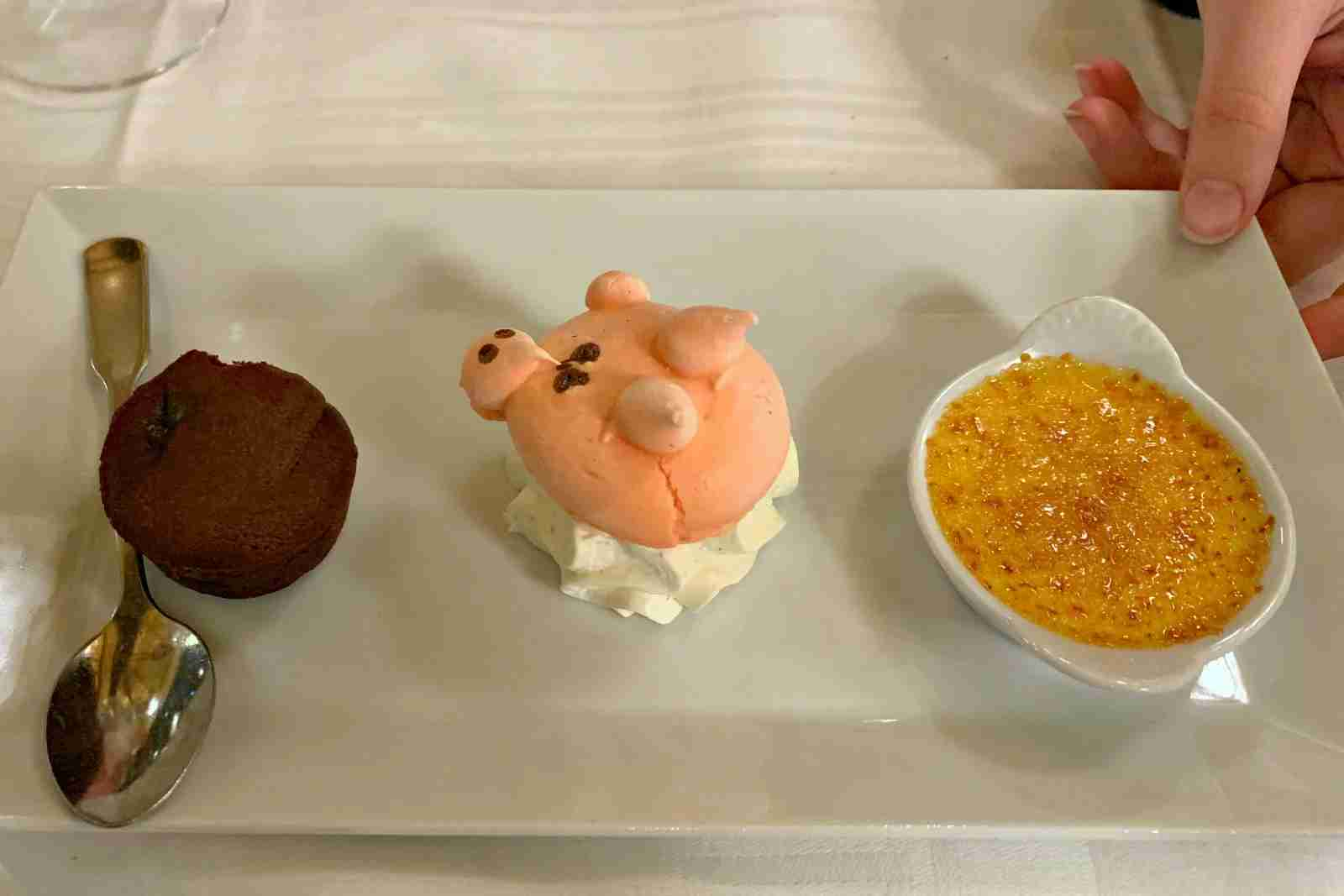 Dessert at Au Pied de Cochon.