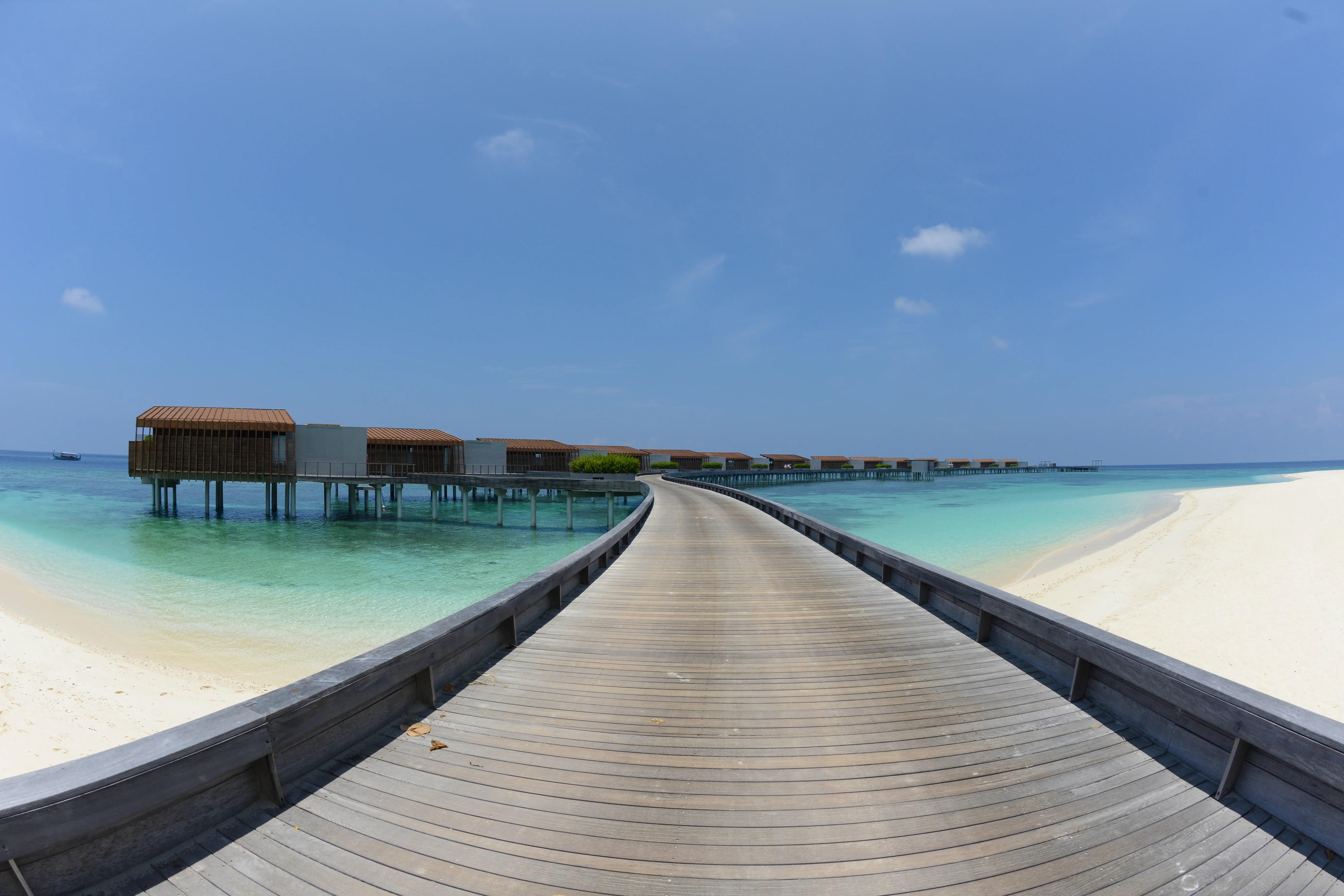 park hyatt hadahaa maldives overwater bungalow walkway