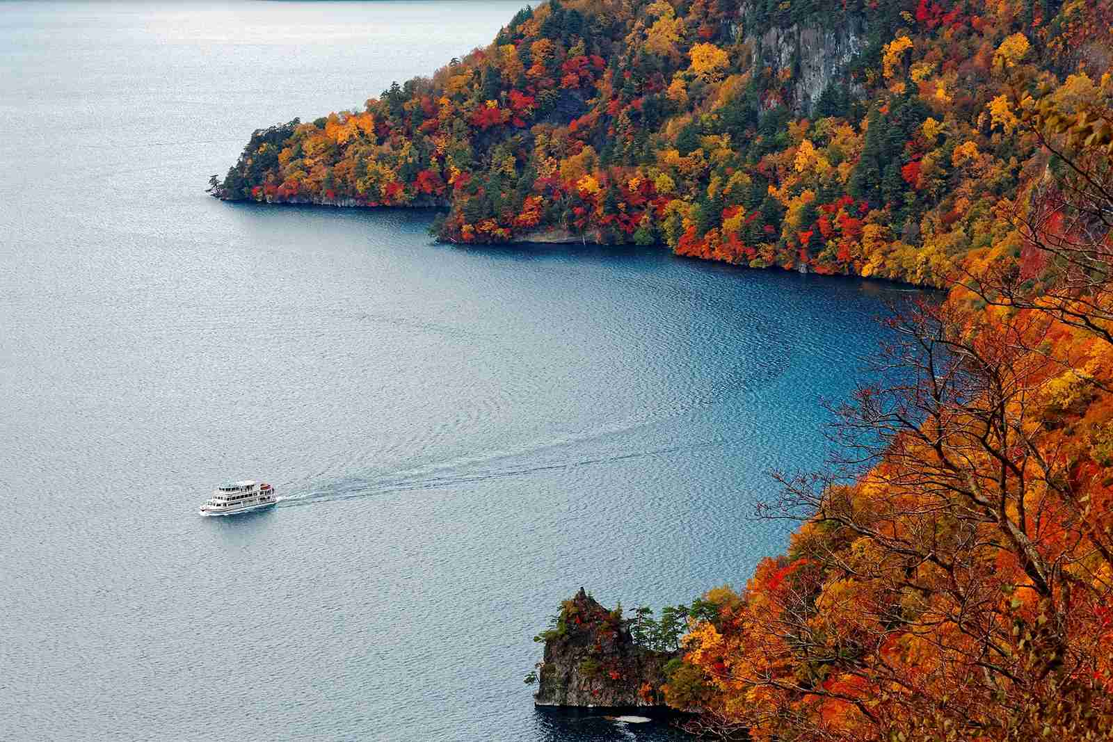 A cruise enjoying the beautiful fall foliage. (Photo by Shutterstock)