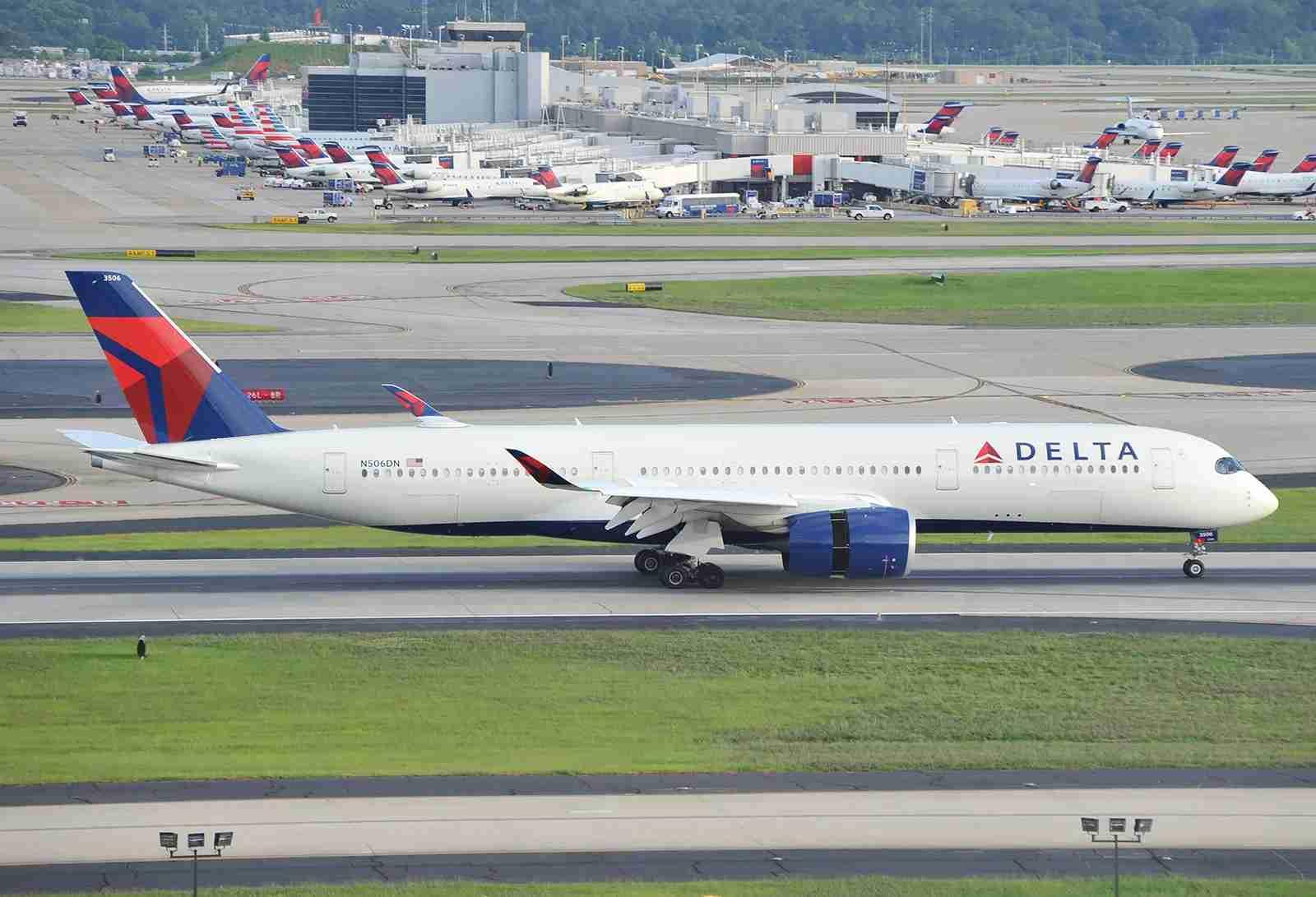 A Delta Airbus A350 at ATL (Photo by Alberto Riva/TPG)