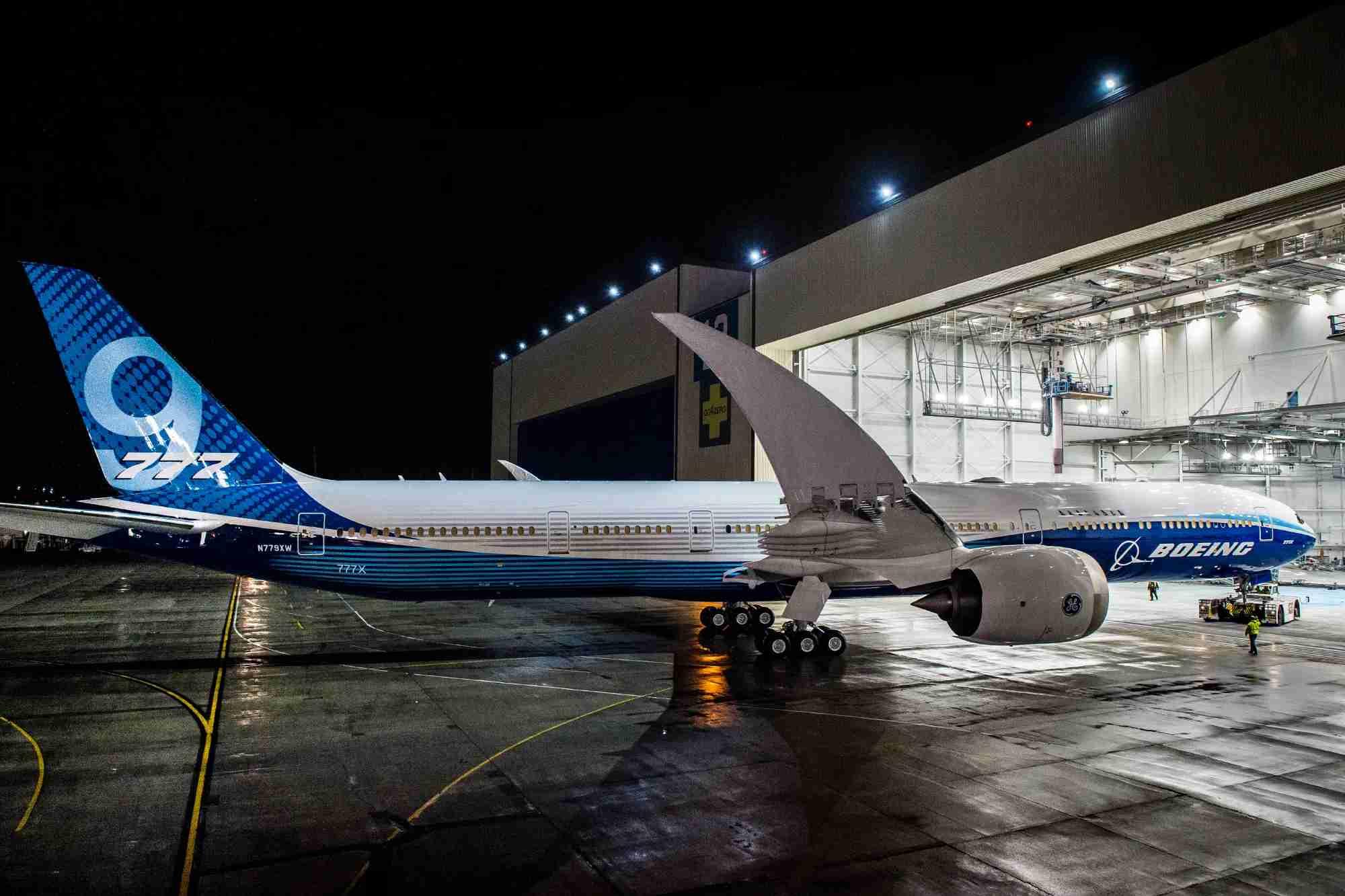 Boeing 777x seat chart