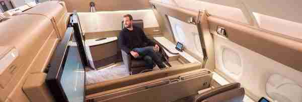You can book Singapore Airlines A380 new First Class Suites with Chase Ultimate Rewards. Photo by Brian Kelly / The Points Guy
