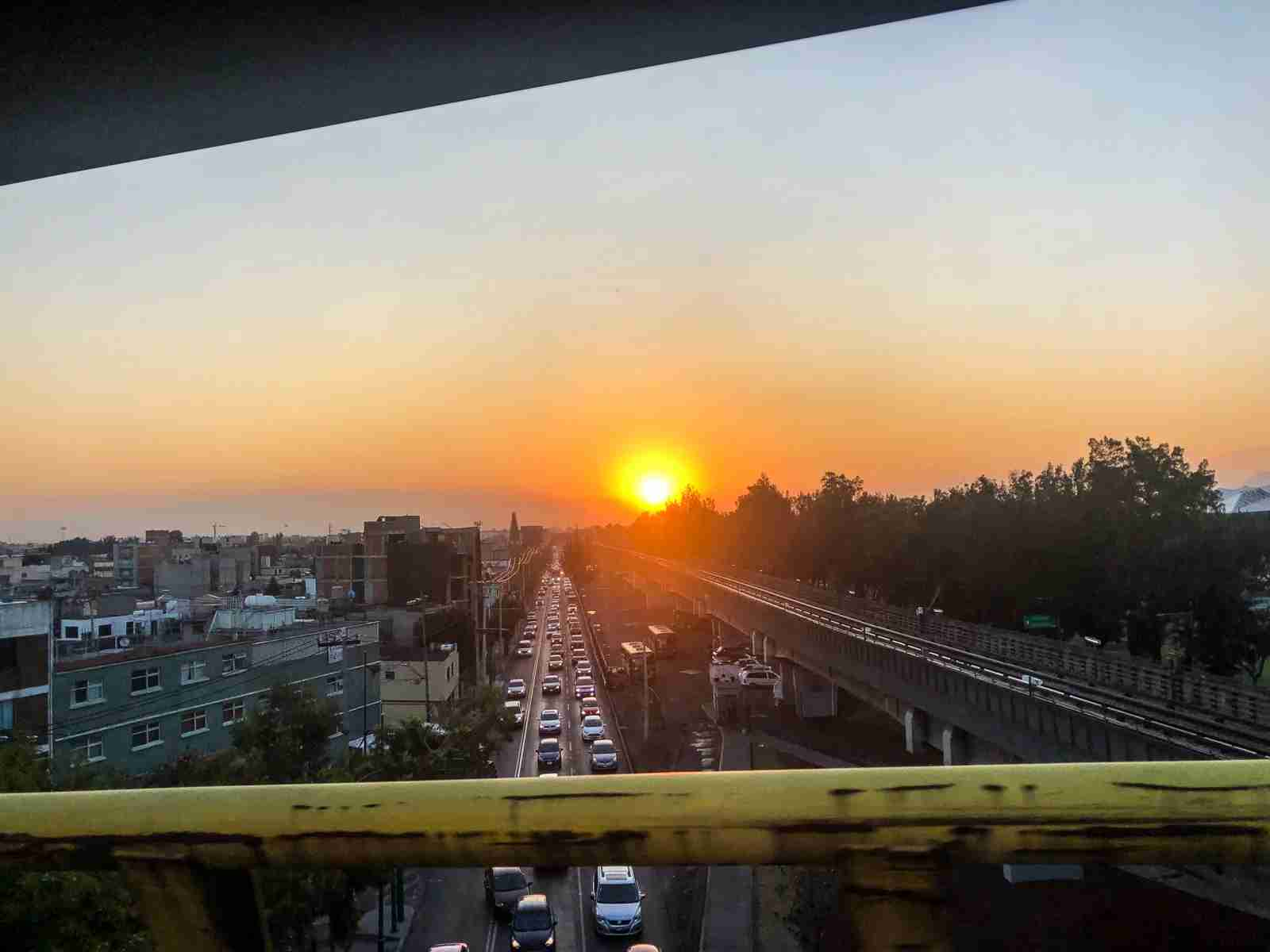 A sunrise over Mexico City. (Photo by Sara Wass/The Points Guy)