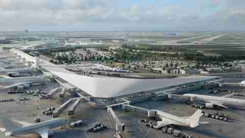 A rendering of the proposed changes to O'Hare's terminal 5