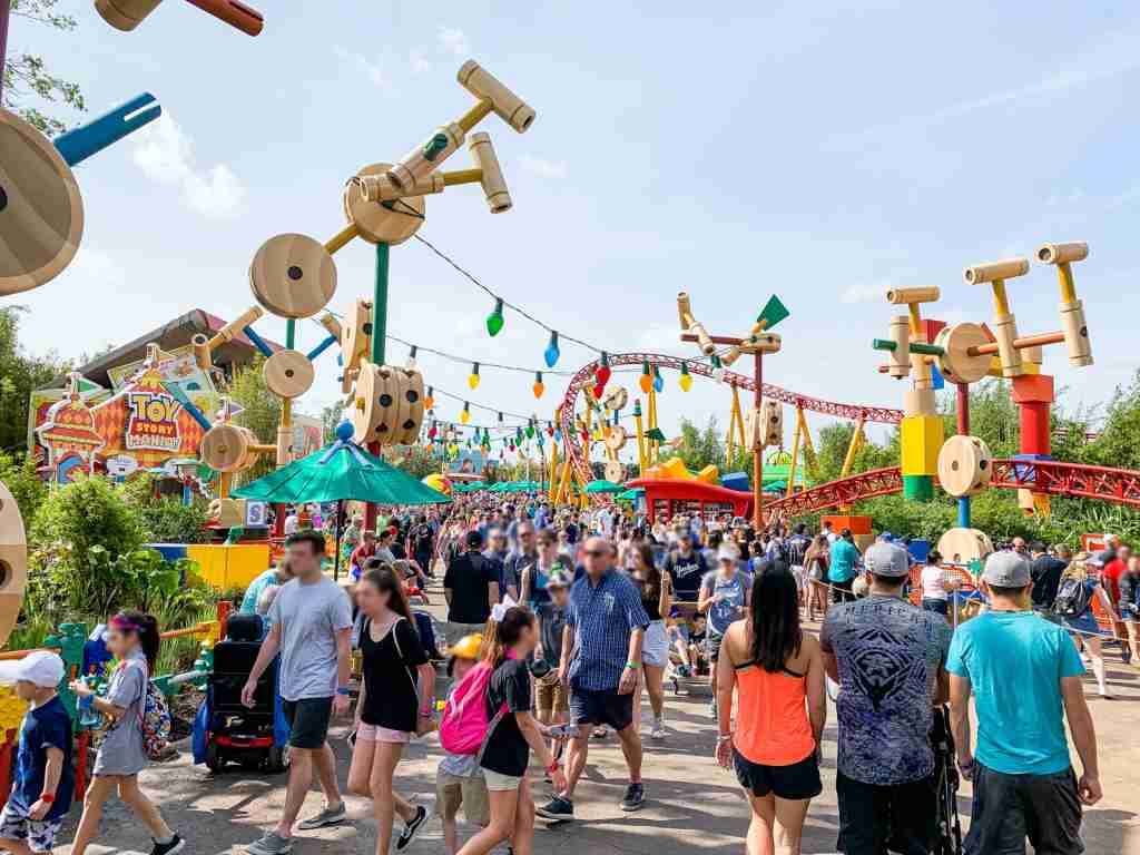 What Toy Story Land looks like on an average day