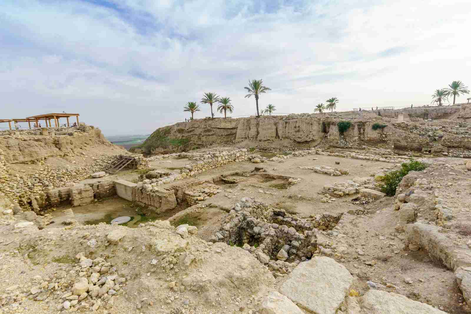 Archaeological remains in Tel Megiddo National Park, Northern Israel. (Photo via Getty Images)