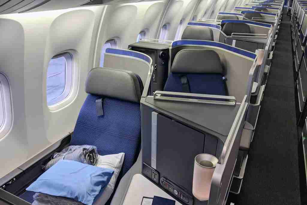 Polaris business class on United