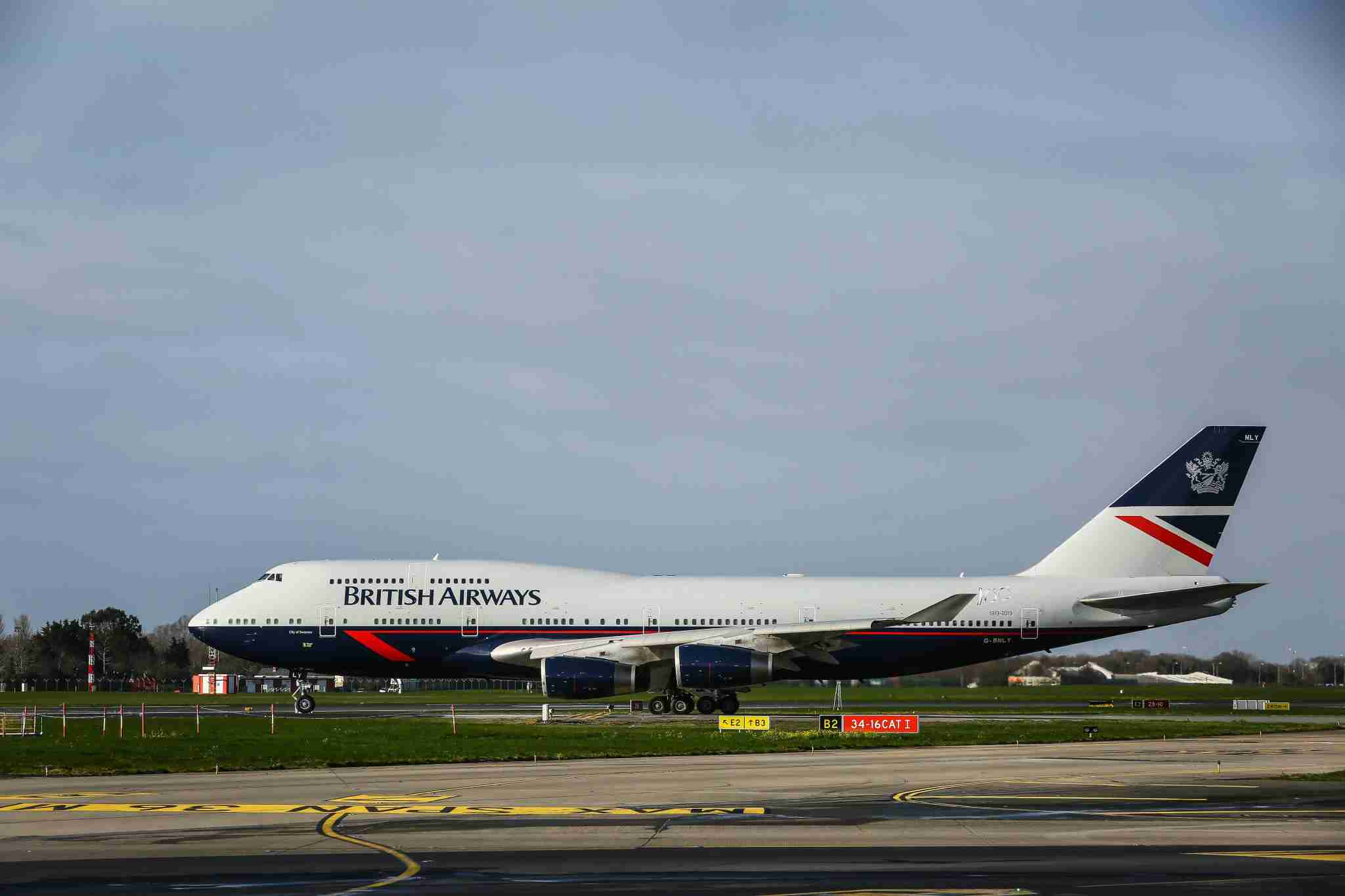 British Airways special Landor livery Boeing 747-400. Photo by Nicky Kelvin / The Points Guy