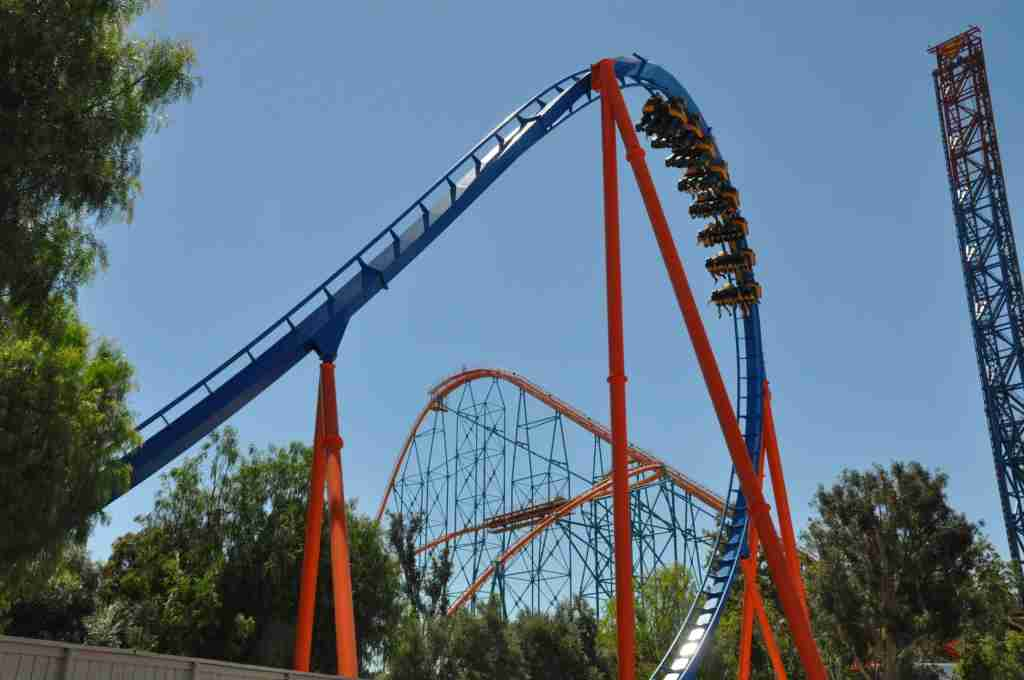Scream rollercoaster ride at Six Flags Magic Mountain