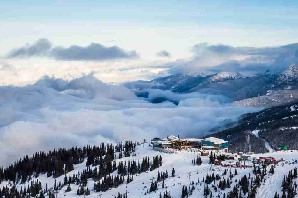 Whistler Blackcomb Ski Resorts Roundhouse and Peak 2 Peak Gondola. (Photo via Getty Images)