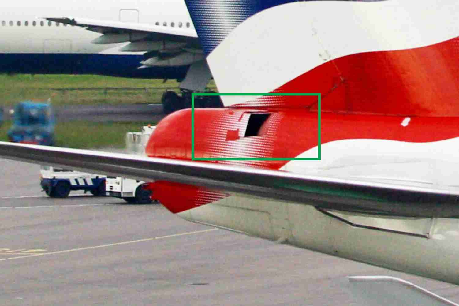 The air intake for the APU on a British Airways Boeing 747. Image via British Airways.