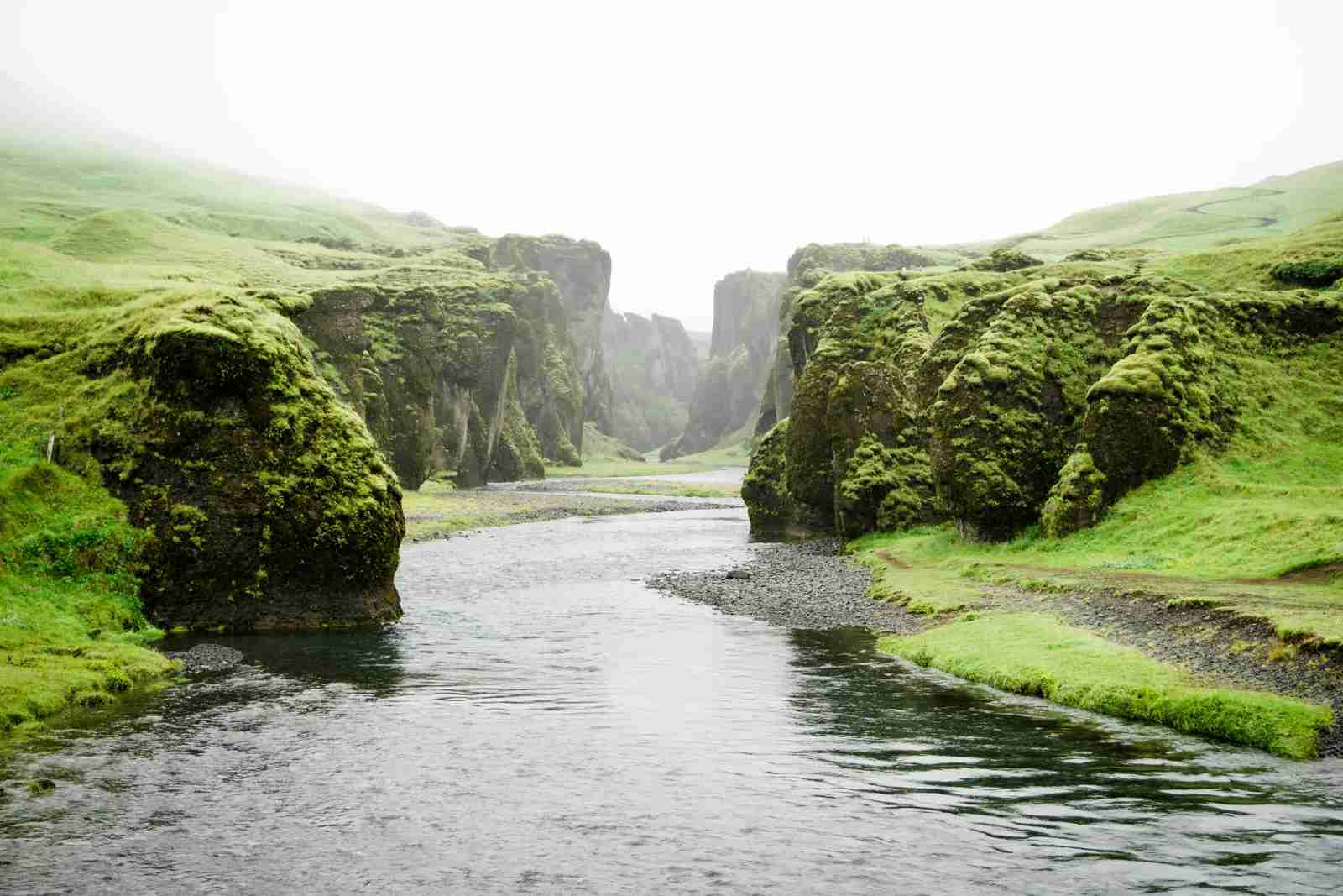 Fjaðrárgljúfur Canyon. (Photo by Martin Sanchez/Unsplash)