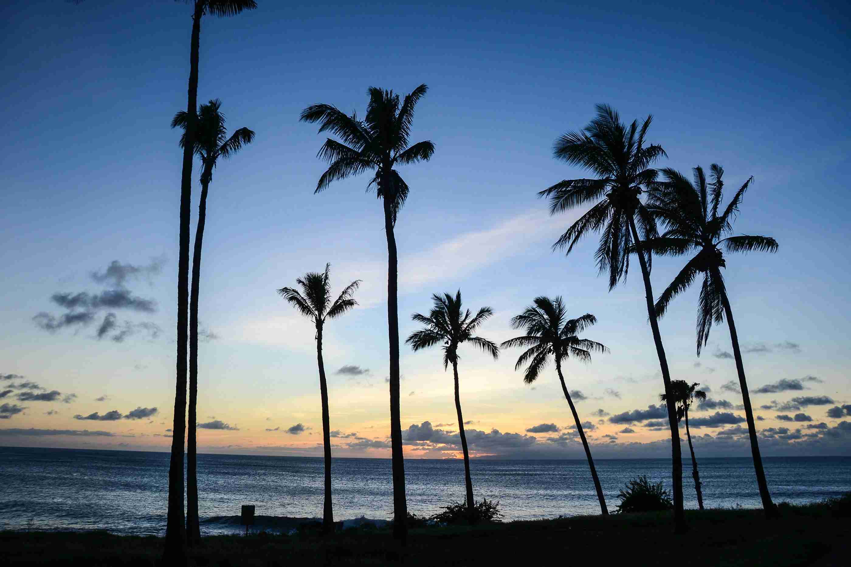 Sunsets from what used to be a Sheraton are spectacular in Molokai, Hawaii