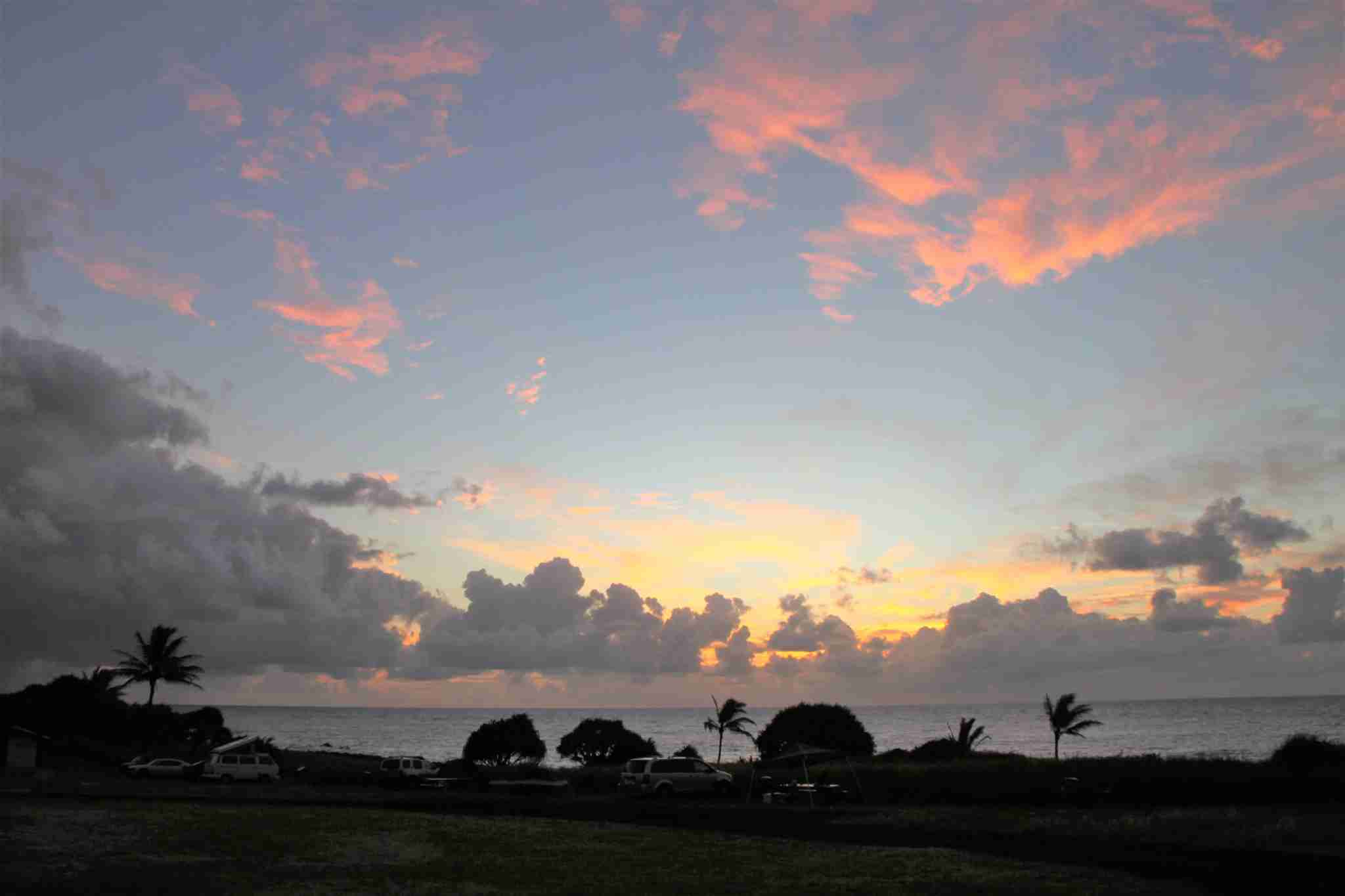 Kipahulu campground has amazing sunrise views on the ocean and is free with a National Park Pass!