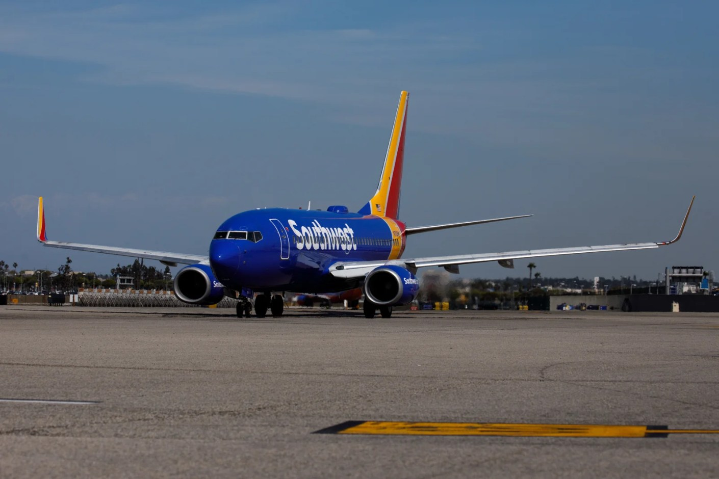 A Southwest Airlines Co. Boeing 737-700 (Registration N713SW) taxis on the tarmac at Los Angeles International Airport (LAX) on Friday, March 29, 2019 in Los Angeles, Calif. © 2019 Patrick T. Fallon for The Points Guy