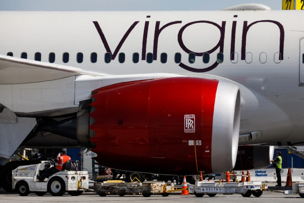 Crews prepare a Virgin Atlantic Boeing 787-9 (Registration G-VBOW) with Rolls Royce engines at Los Angeles International Airport (LAX) on Friday, March 29, 2019 in Los Angeles, Calif. © 2019 Patrick T. Fallon for The Points Guy