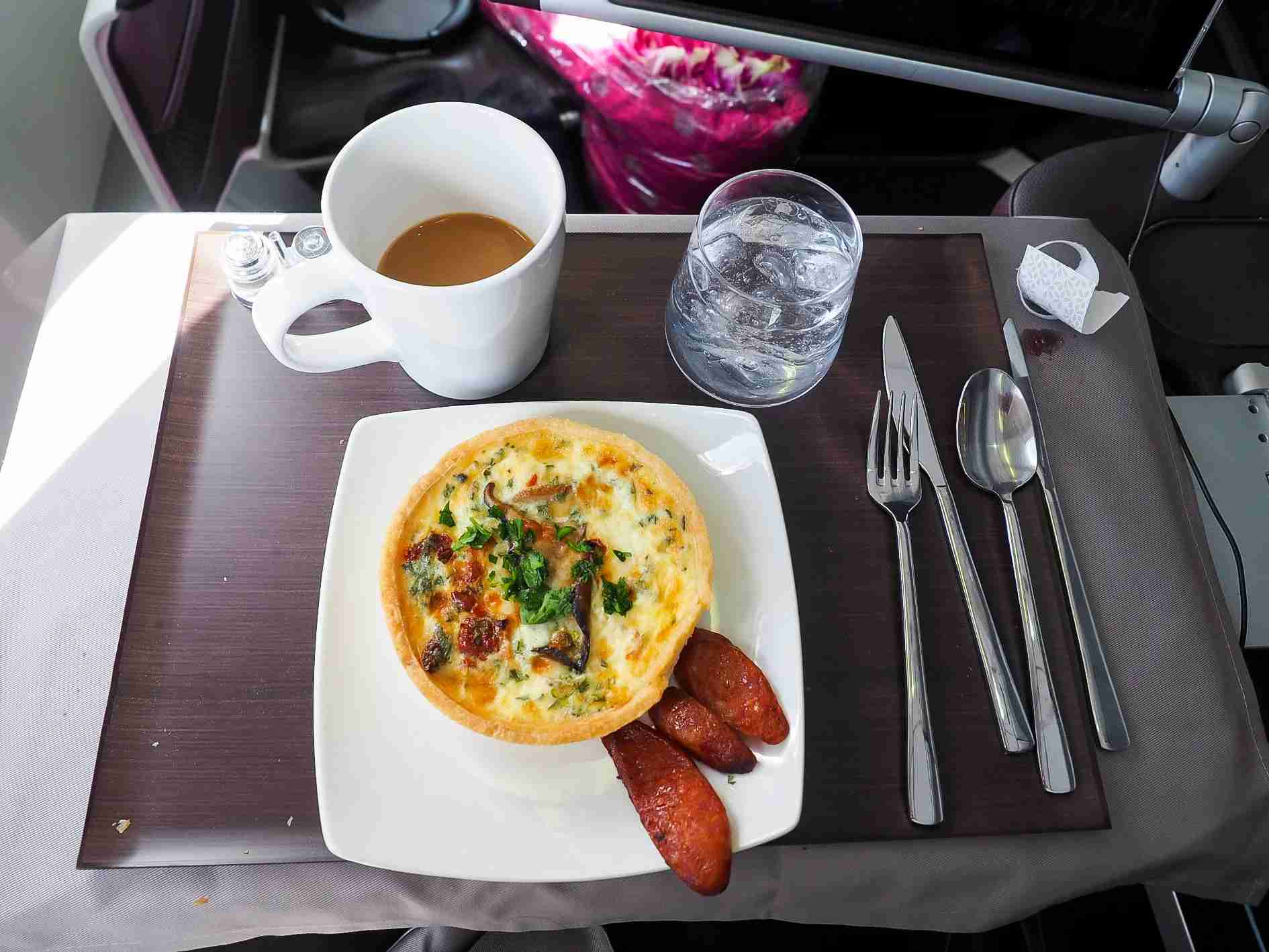Hawaiian Airlines brunch (Photo by Wallace Cotton / The Points Guy)
