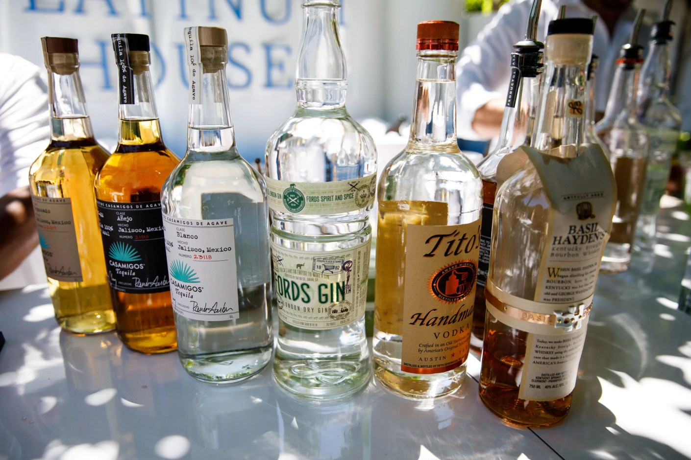Some of the spirits selection. (Photo by Patrick T. Fallon/The Points Guy)