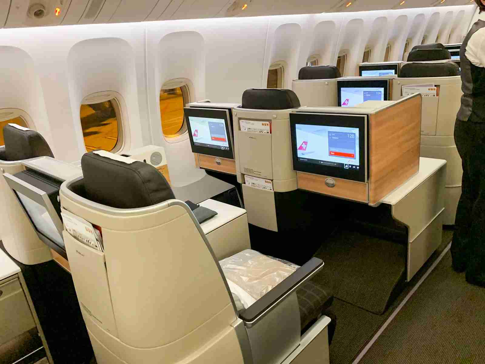 Have you flown in SWISS Air business class yet? (Photo by Ethan Steinberg / The Points Guy)