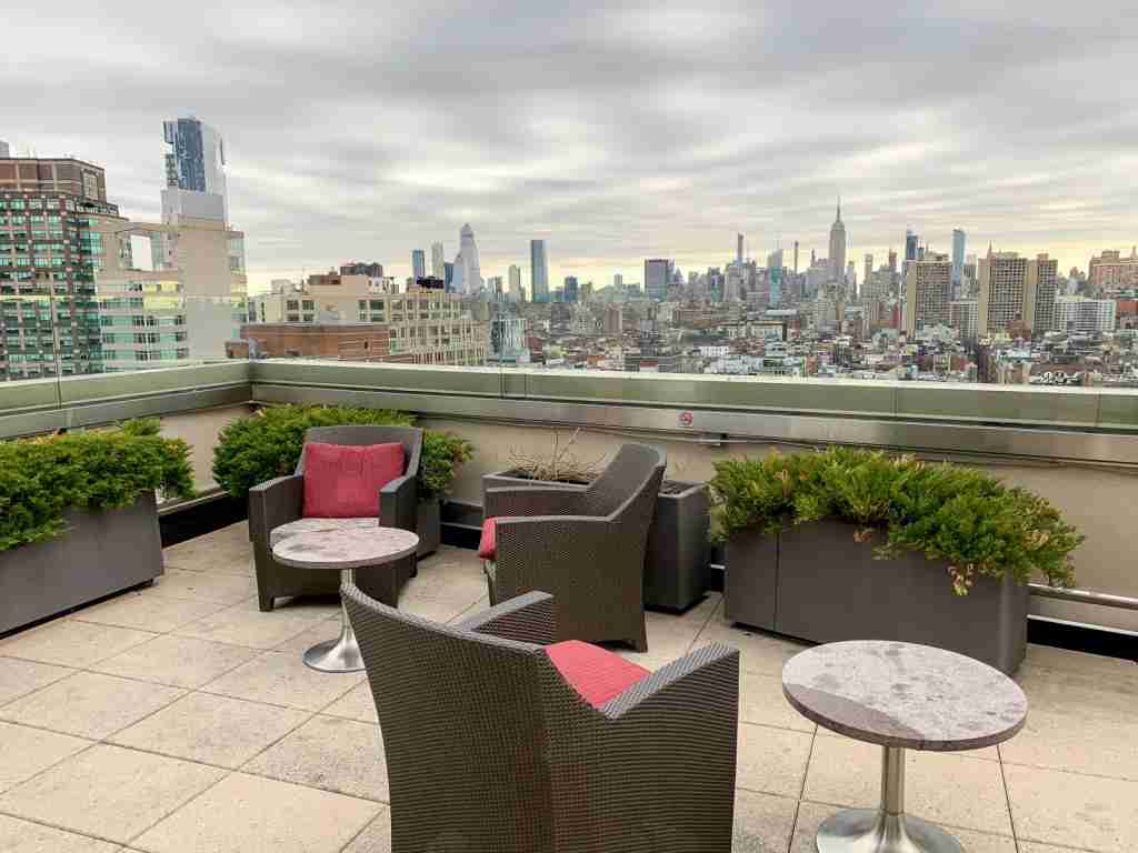 View from Sheraton Tribeca club lounge (Photo by Summer Hull / The Points Guy)