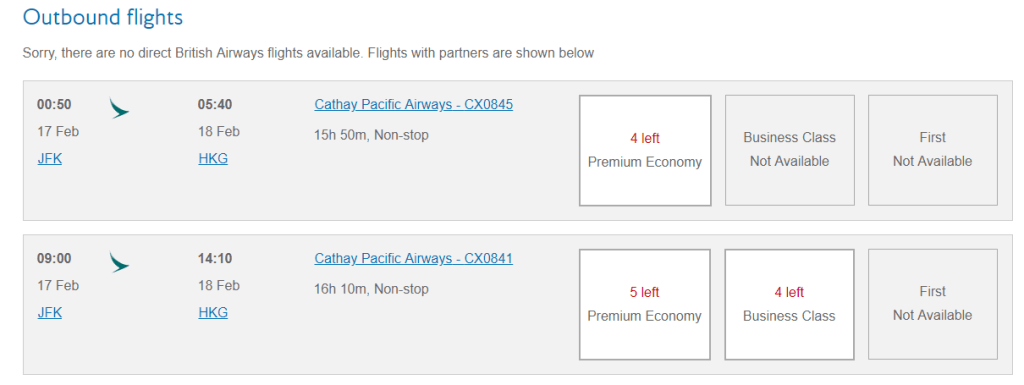 You can usually find up to 5 business class seats when Alaska Airlines allows bookings for partner awards.