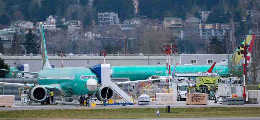 RENTON, WA - MARCH 14: Boeing 737 airplanes are seen outside the company