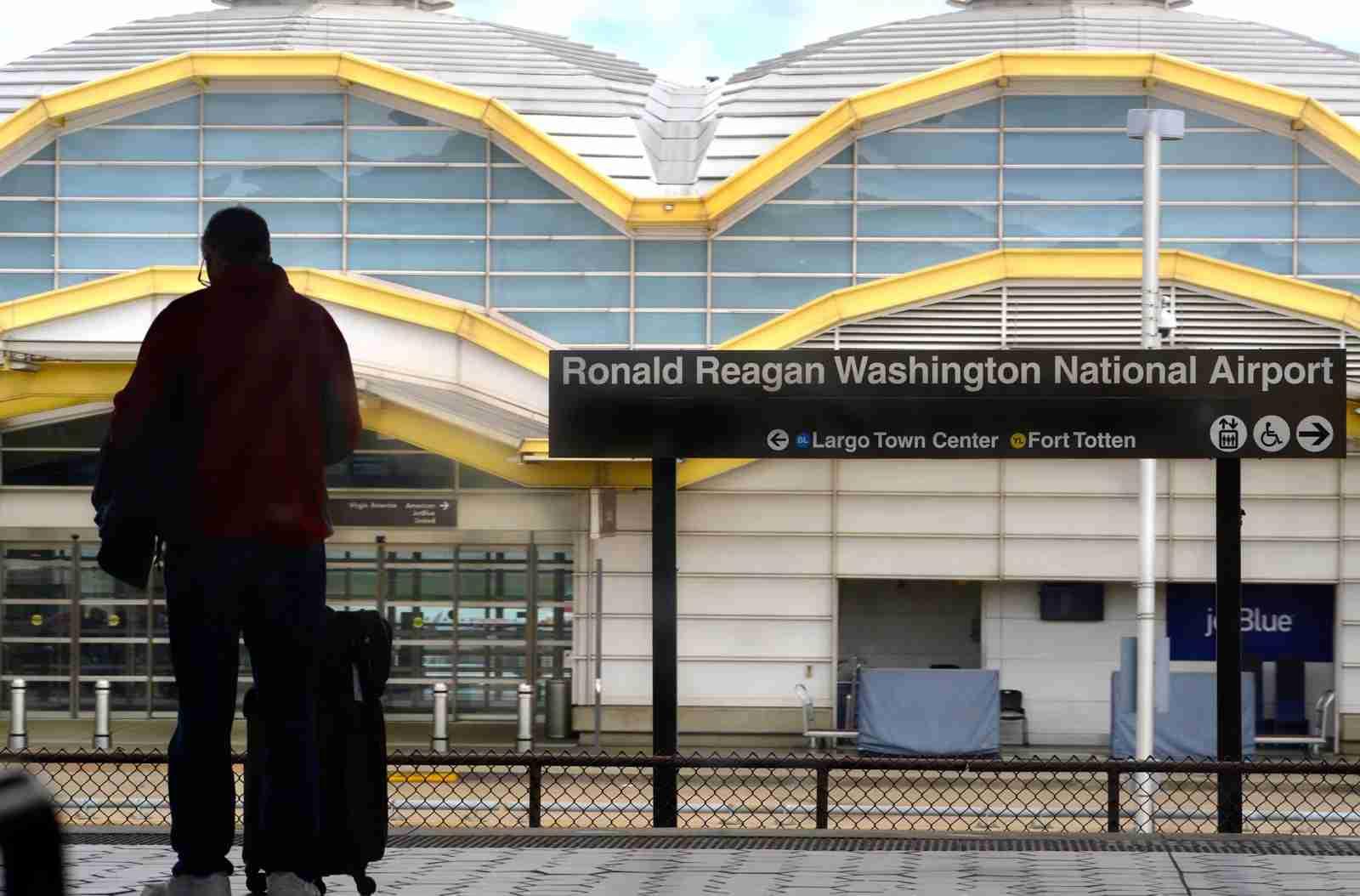 The Metro station at Ronald Reagan Washington National Airport. (Photo by Robert Alexander / Getty Images)