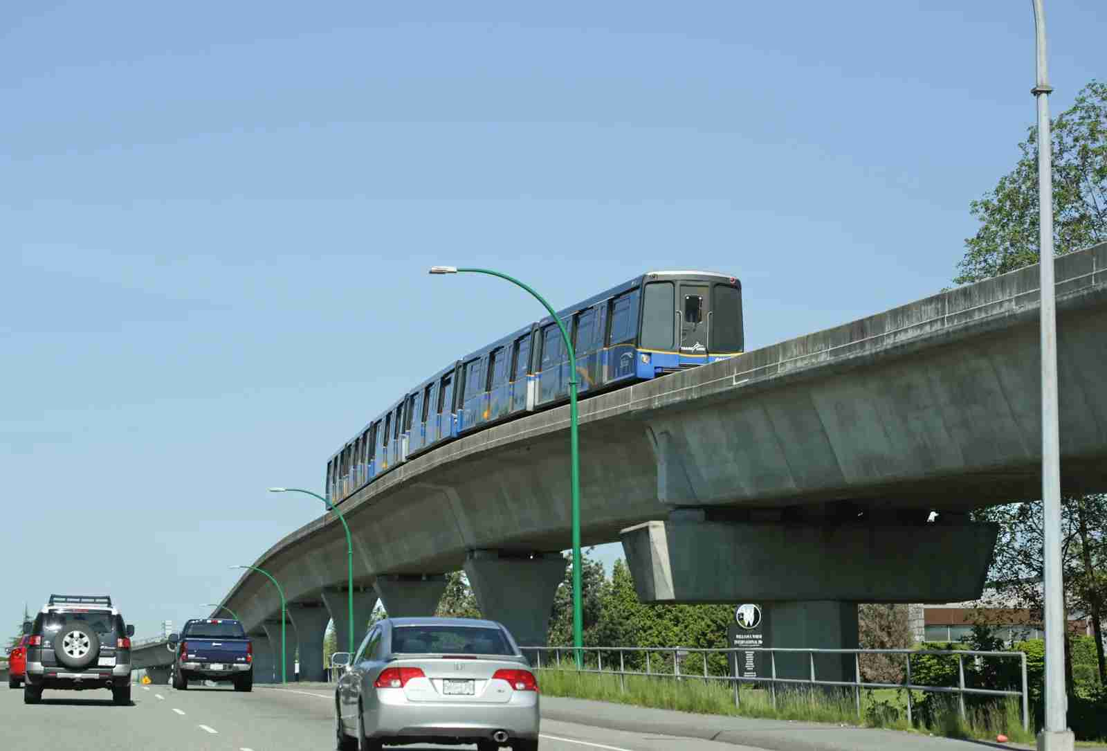 The TransLink SkyTrain carries transit passengers through Metro Vancouver. (Photo by KathrynHatashitaLee / Getty Images)