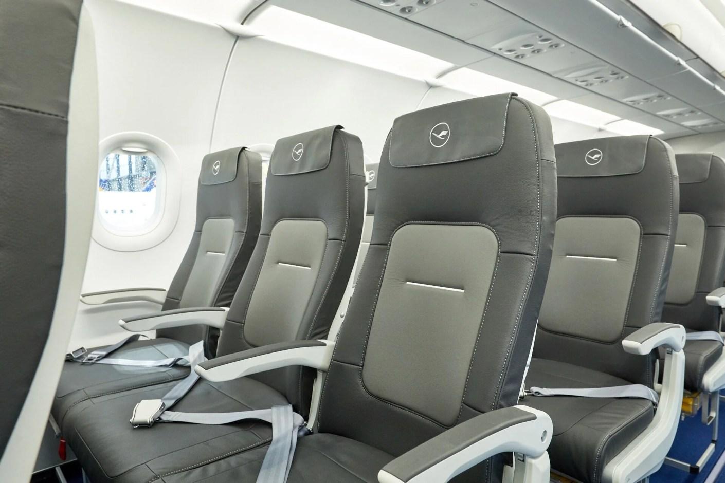 Lufthansa's new Airbus cabin (Image courtesy of Lufthansa)