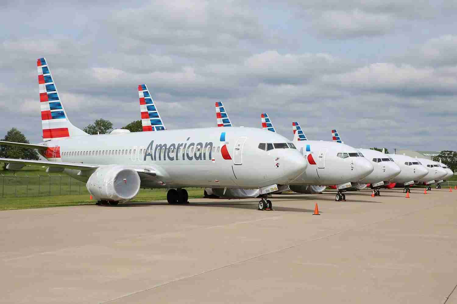 American 737 MAX 8 aircraft stored in Oklahoma. (Photo courtesy of American)
