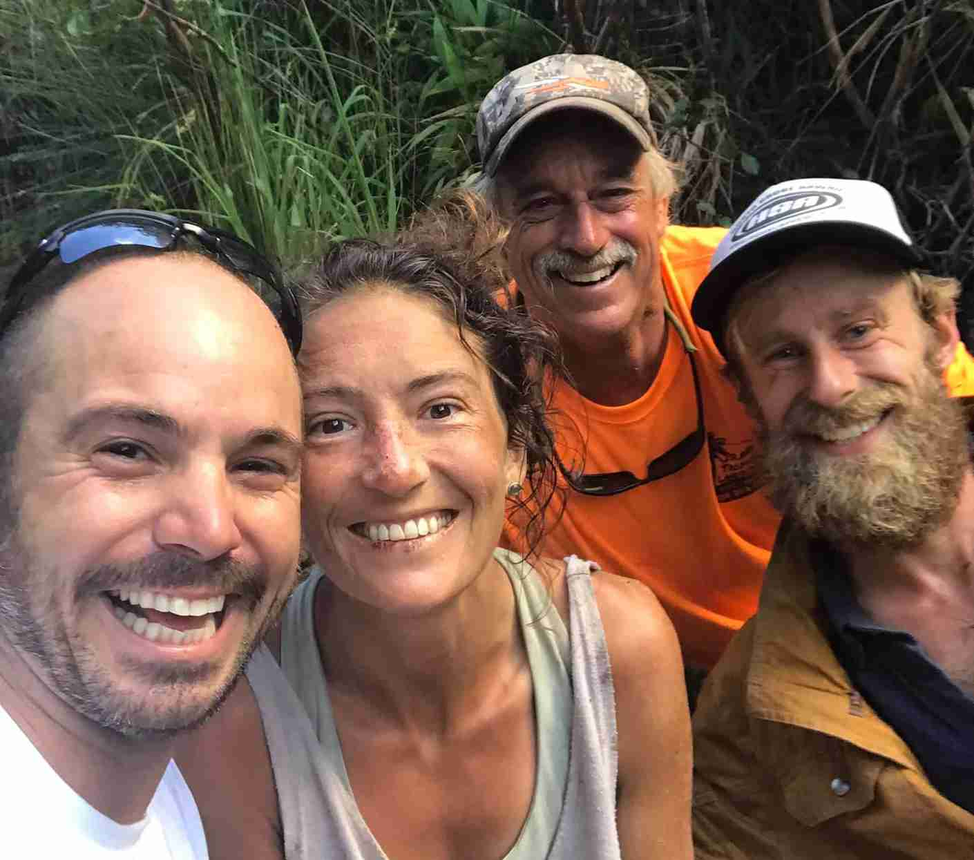 The rescue team that found Amanda Eller after 17 days lost in a Maui forest (Photo by JAVIER CANTELLOPS / Contributor / Getty Images )