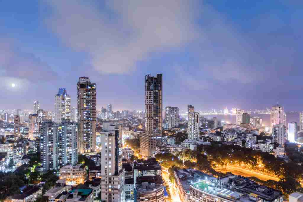 Asia, India, Mumbai, general view of the Mumbai skyline from the Malabar district in the city centre. Photo by Getty Images