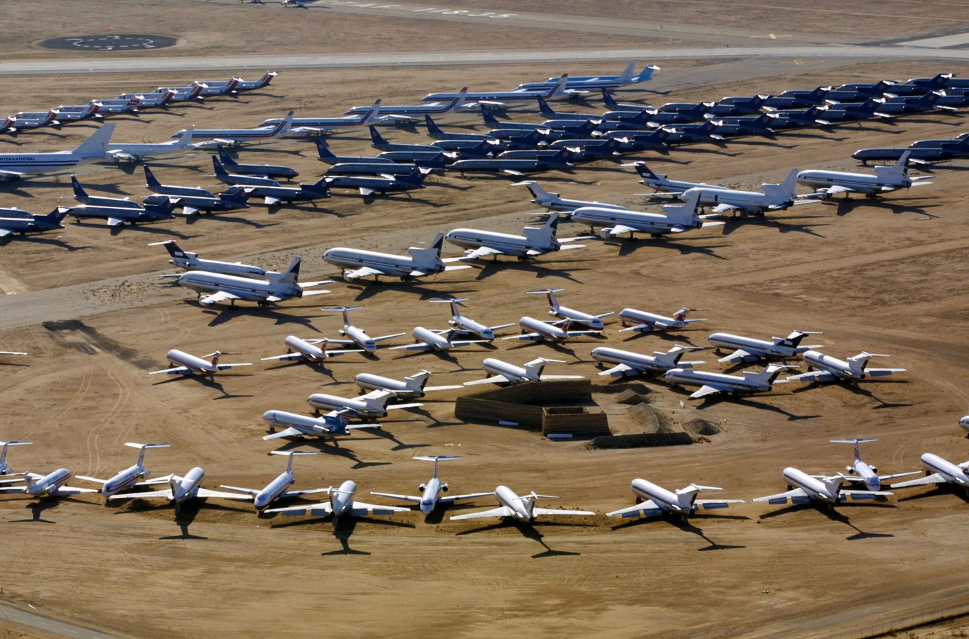 Victorville-Southern California Logistics Airport as seen in 2001 (Photo by Mike Fiala/Getty Images)
